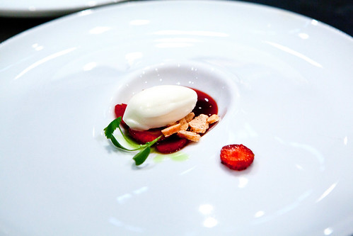 Chef Jennifer Yee's dessert of strawberry and basil