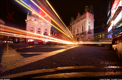 London at Night; Piccadilly Circus (renesebastian) Tags: england london night dark long exposure circus picadilly piccadilly piccadillycircus shutter longshutter londen piccadily longexpsosure