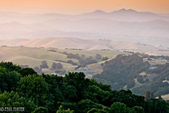 Briones Vista (Paul Porter Photography) Tags: california park sunset costa bay district east layers hazy northern martinez contra regional briones