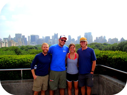 Brock, Josh, Me & Mike on top of the MET!