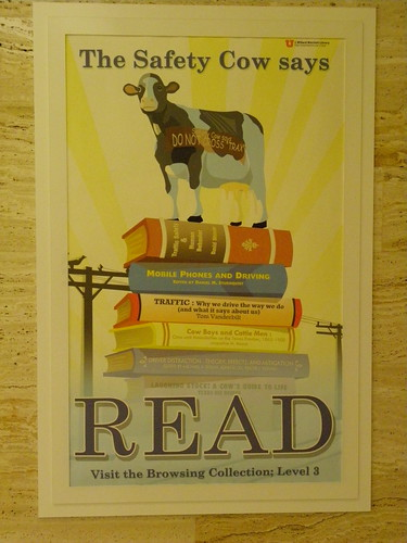 Safety cow says read - J.Willard Marriott Library, University of Utah