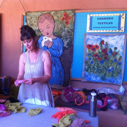 Felting Demo at Los Golondrinos