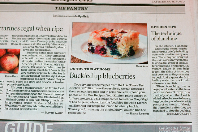 Los Angeles Times Food Section