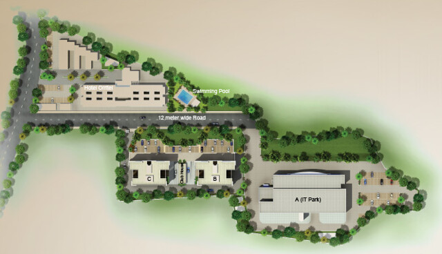 Layout Plan of Vascon Xotech Homes - Hinjewadi Dange Chowk Wakad Road - Hinjewadi Gram Panchayat - Pune 411 057