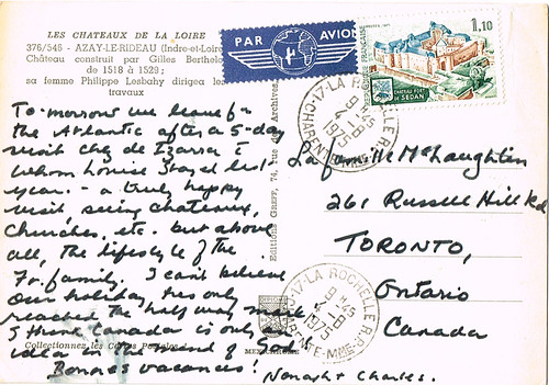 Found Postcard - Back