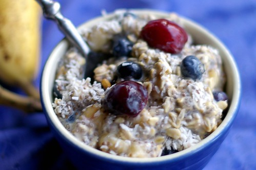 Red White and Blue Vegan Overnight Oats