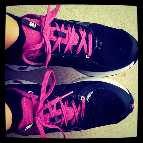LOVE my free shoes from @newbalance! Thank you! #evoconf