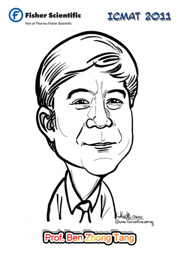 Caricature for Fisher Scientific - Prof. Ben Zhong Tang