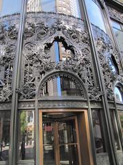 Art Nouveau style bronze-plated cast-iron ornamental work (libraryrivergirl) Tags: chicago carson illinois terracotta artnouveau ornament castiron pirie 1899 louissullivan burnhamroot scottandcompanybuilding