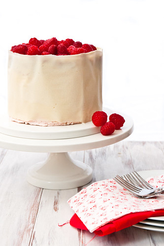 Buttermilk Cake with Raspberry Swiss Meringue Buttercream Frosting