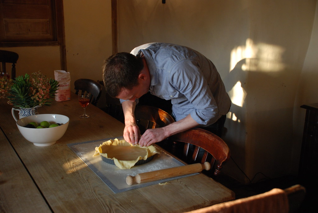 Will hard at work on his beautiful pie crust