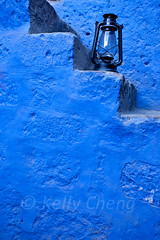 Peru-100605-610 (Kelly Cheng) Tags: travel blue color colour building heritage tourism peru southamerica motif vertical museum architecture stairs design daylight colorful day pattern outdoor colonial culture vivid nobody nopeople unesco getty colourful arequipa traveldestinations monasteriodesantacatalina pickbykc
