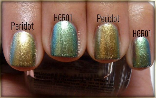 Missha HGR01 vs. Chanel Peridot