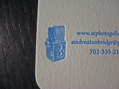 Halftone Letterpress Business Card