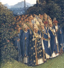 The Clergy in the Ghent Altarpiece (detail) (Ellis Art History) Tags: blue detail religious panel oil janvaneyck flemish figures ghent clergy 15thcentury altarpiece saintbavocathedral ghentaltarpiece northernrenaissance hubertvaneyck ellisarthistory