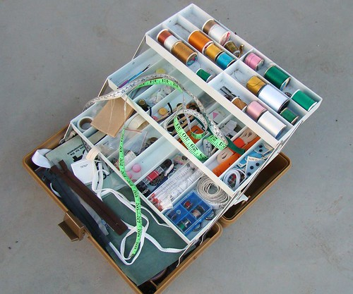 Sewing kit in tackle box by StarWatcher307, on Flickr