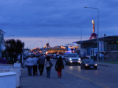 Late Monday evening on Bray Seafront