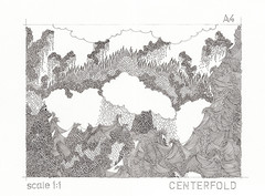 centerfold, pages 6&7 (bezembinder) Tags: clouds landscape bezembinderdrawingrotringfineliner
