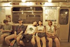 Metro Girlz (TIAN@OTF) Tags: girls sepia subway geotagged metro russia moscow fenster 1997 ausflug sexygirls moskau rus russland mockba leonovo geo:lat=5584573508 geo:lon=3765649797 metrogirlz img00137nikonnegscan москва850 850jahremoskau тиah