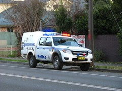 Hawkesbury 16 Ford Ranger 4X4 Caged vehicle (Highway Patrol Images) Tags: truck crash accident ss commodore pajero mva rta nswfirebrigades nswpoliceforce ambulanceservicensw