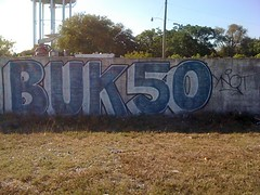 BukFifty (Cosmic Neons) Tags: graffiti florida miami tag rip tags crew lauderdale letter ft fl 28 graff straight 50 msg tagging buk blockbuster 2010 ynot trackside buk50 2011 ynotse