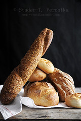Bread & Bread (StuderV) Tags: food contrast bread nikon natural rustic baguette foodphotography breadroll stocked foodstyling d700 tabletopstyling