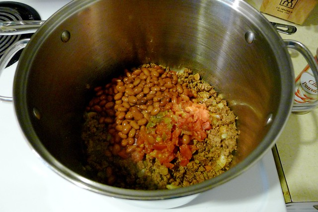 Adding beans and rotel