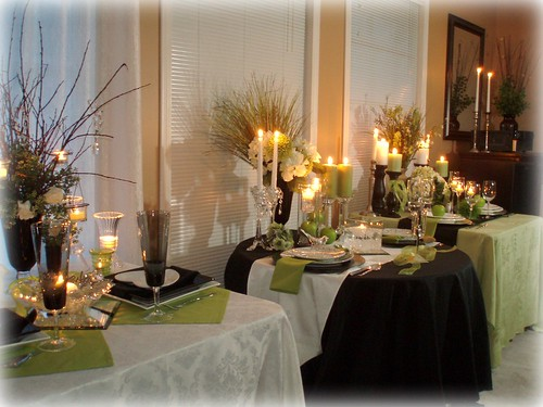 Now we will look at Table 3 the white green tablescape