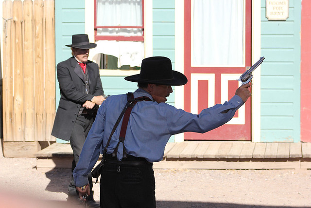 Morgan Earp and Doc Holliday