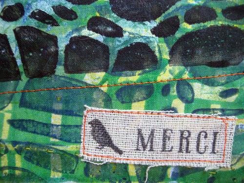 prayer flag 11 ~ gratitude, detail