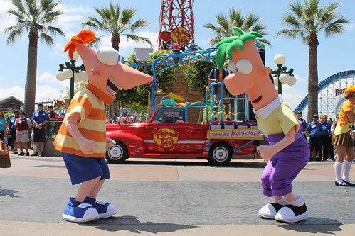 Phineas a Ferb Rockin 'Rollin' Dance Party