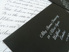 Black and White Calligraphy (Scarlet Blue) Tags: handwriting calligraphy copperplate