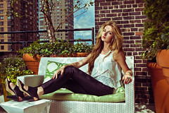 Kristina Hoock | Hudson Hotel Rooftop, New York City (Brian Storey | www.pleaseflash.me) Tags: nyc newyork rooftop girl fashion skyline vintage hair tones alienbees strobist octobox ab1600 sexywind