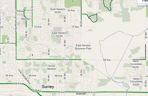 Surrey bike Routes