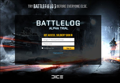 Battlefield 3 Battlelog Alpha is LIVE, Beta Sign Up, Origin and More