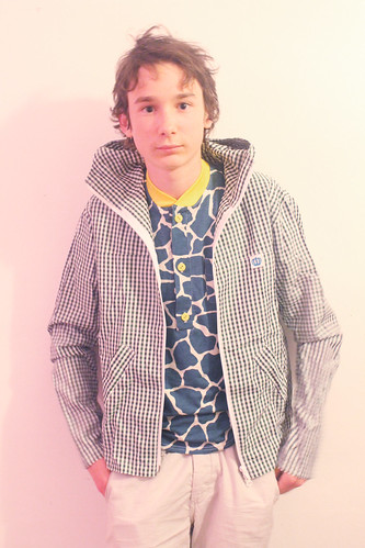 Queens Of Sounds Giraffe Polo Shirts & Green Check hoody - Finn