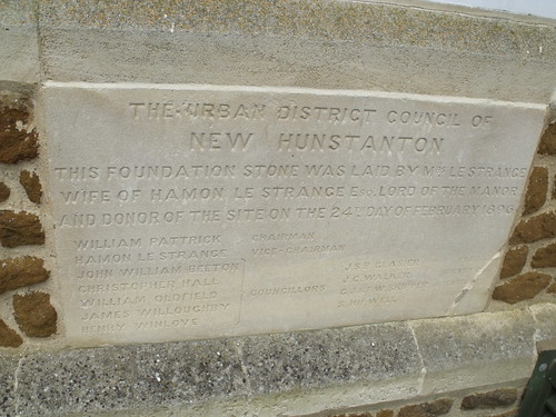 Town Hall - Hunstanton - Tourist Information - Foundation stone