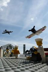 Pearl harbor (Redo) (Rebla) Tags: plane lego wwii sailors american micro ww2 zero forcedperspective tommygun pearlhabor microscale airflied