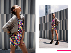 """Digitale."" ft. Natalia Harris & Neris Dominguez for Perceptivo Magazine - Fall 2011 (Ryan Christopher VanWilliams - NYC) Tags: nyc pink blue usa sunlight white ny newyork black slr film colors lines yellow brooklyn analog digital canon hair grey italian triangle diptych colorful downtown pattern fuji shine purple angle natural bronx manhattan mosaic teal digitale models makeup july monochromatic queens spanish reflect american africanamerican fujifilm wardrobe 711 statenisland sequins fortgreene styling stylist 2011 vanwilliams colorblocking jefferycampbell albeesquare natashamorris ryanchristophervanwilliams rcvw dyjonaicampbell danebrowne nataliaharris nerisdominguez giavannaedwards jahairalora est1986"