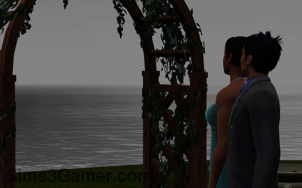 Sims 3 Generations stormy wedding
