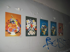 Abandoned laundry (.patrick.) Tags: flower abandoned industry wall poster factory wand fabrik decoration laundry ddr blume industrie gdr verlassen deko dekoration ostalgie wscherei