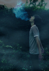 Cyan (henrypotter.) Tags: lighting colour project cool smoke cyan spooky collaborative exhale