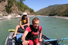 Taking it easy on the Sun Kosi Adventure rafting and Kayaking river trip