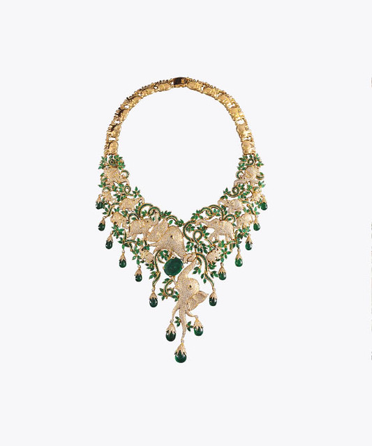 VUMMIDI BANGARU JEWELLERS ZAMBIAN EMERALD NECKLACE-1.jpg