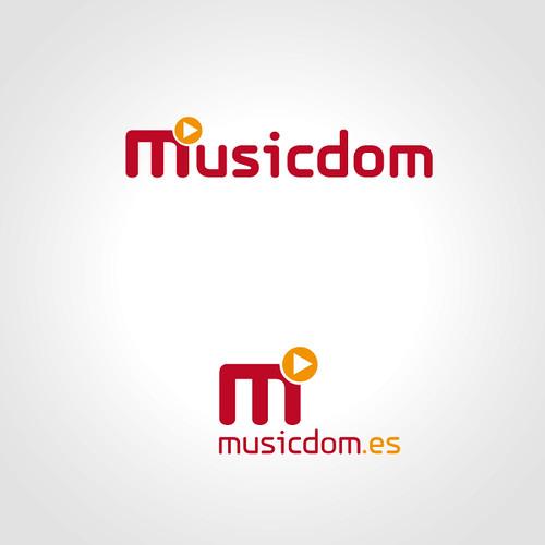 MusicDom logo by carlesbarrios