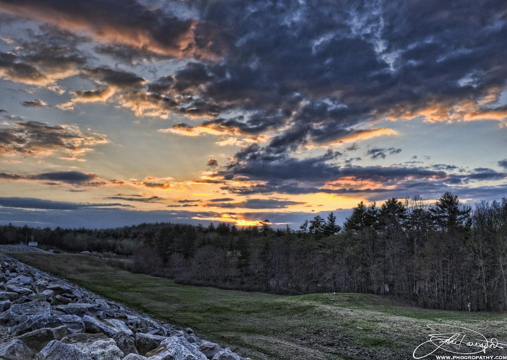 West Hill Dam Sunset