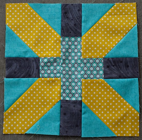 For Kate @ swim, bike, quilt, x and + blocks for 4x5 bee, 3rd quarter