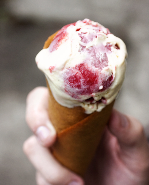 Red Berry Swirl Ice Cream