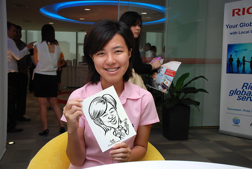 Caricature live sketching for Ricoh Roadshow - 16
