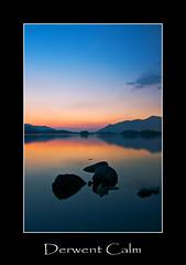 Derwent Calm. (numanoid69) Tags: uk sunset england lake mountains water reflections nationalpark twilight rocks dusk stones lakedistrict calm cumbria fells derwentwater keswick tranquil skiddaw nikond300